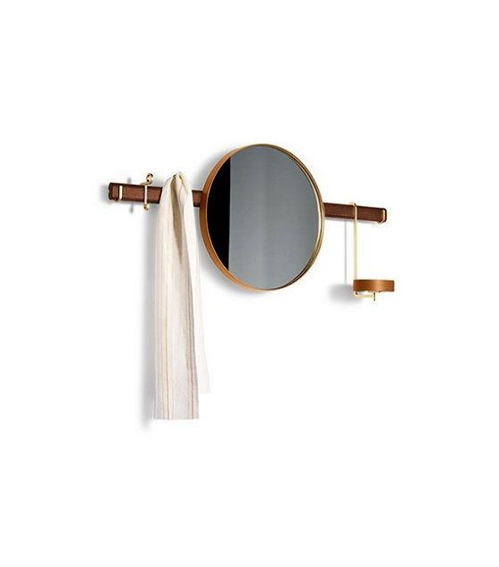 Ren - Wall mirror with hangers mobile